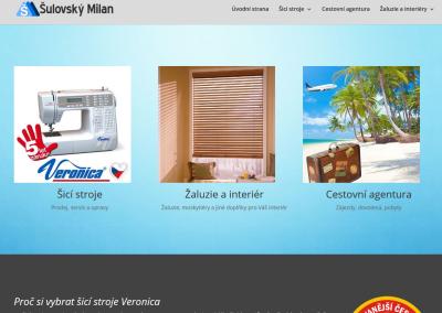 Šulovský Milan šicí stroje, cestovatelská agentura